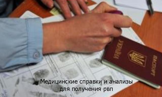 Медицинские справки и анализы для получения рвп, Политический класс