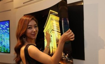 thin TV, LG TV, TV with a thickness of 1 mm
