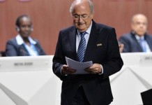 Joseph Blatter, Blatter announced his resignation, the resignation of FIFA President