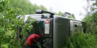 Accident Balakhtinsky district of Krasnoyarsk Krai accident, two buses collided, the tragedy in Krasnoyarsk region