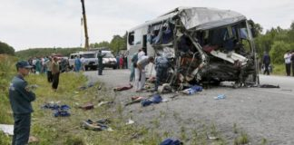 Accident in the Krasnoyarsk region, killing people, accidents, accident Krasnoyarsk Krai, the accident bus and truck