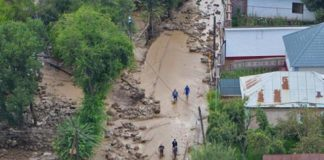 the landslide, a landslide in Alma-ATA, a state of emergency in Almaty