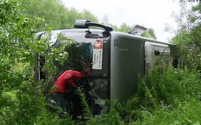 ДТП Балахтинский район, ДТП Красноярский край, столкнулись два автобуса, трагедия в Красноярском крае