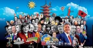 Петр Порошенко, украинский президент, Петр Порошенко твиттер, Порошенко вырезал фото Путина, The Ecomomist, The World in 2017