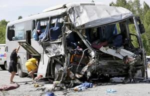 Accident in the Krasnoyarsk region, killing people, accidents, accident Krasnoyarsk Krai, the accident bus and truck