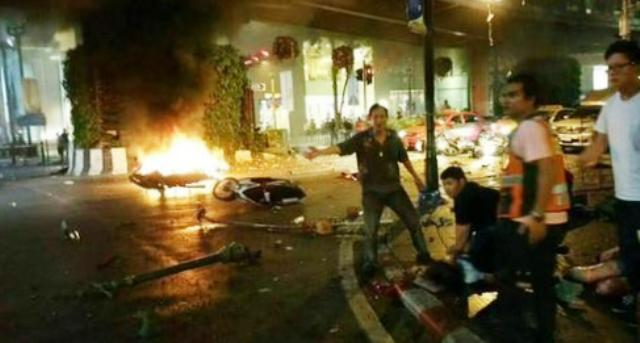 bomb blast in Bangkok, the incident in Bangkok, blew up the temple, the attack in Bangkok