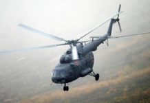 crashed Mi-8 helicopter, the helicopter fell in the suburbs, the helicopter of EMERCOM of Russia crashed, the helicopter crashed in the suburbs